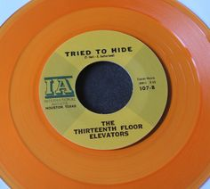 "The 13th Floor Elevators You're Gonna Miss Me Orange Vinyl 7"" Reissue Mint 