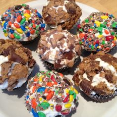 ... Roll in crushed M & Ms, Heath Bar, or peanut butter cups. Delicious