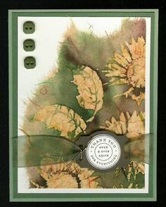 Batik Sunflowers by parkerquilter - Cards and Paper Crafts at Splitcoaststampers