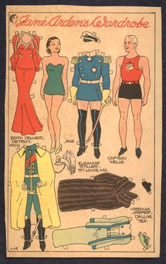 1930'S Newspaper Paper Doll
