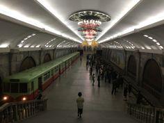Metro in Pyonyang North Korea, Train, Strollers