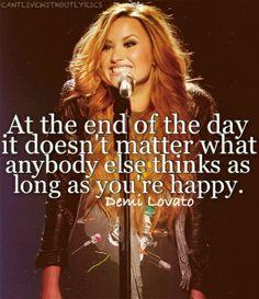 -Demi Lovato.