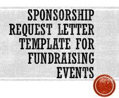 sponsorship request letter template for fundraising events