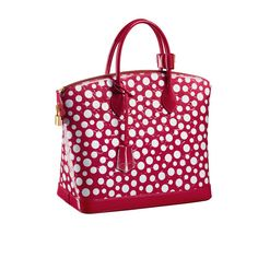 Louis Vuitton x Yayoi Kusama Sac Lockit MM Monogram http://www.vogue.fr/mode/shopping/diaporama/cadeaux-de-noel-rouge-fatal/10938/image/651526#louis-vuitton-x-yayoi-kusama-sac-lockit-mm-monogram