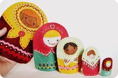 little dear tracks: matryoshka dolls