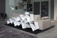 Double-sided divider metal bookcase SU LINE etimodesign Collection by Ronda Design | design Diego Collareda