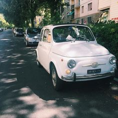 This little white Fiat 500 lives in Campo di Marte and is driven by the cutest old lady! // @allafiorentina