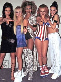 Spice Girls:Posh, Baby, Scary, Ginger, Sporty....OBSESSED isn't even the word to describe how much I loved them back in the day! LOL