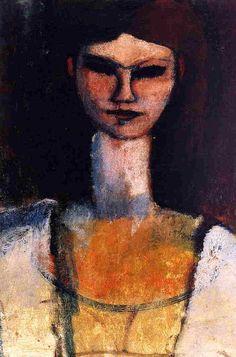 Amedeo Modigliani, Bust of a Young Woman. ...I love Modigliani
