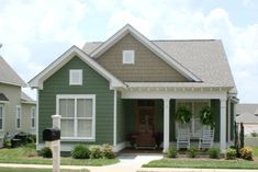 Front Elevation Photo of this Cottage House ( at The Plan Collection. Master bath needs work Cottage Style House Plans, Cottage Style Homes, Cottage House Plans, Cottage Design, House Design, Cottage Decorating, Decorating Ideas, Decor Ideas, Country Homes