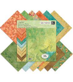 K & Company 12''x12'' Designer Paper Pad - 36PK/Nature: paper: scrapbooking: Shop | Joann.com