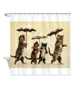 Look at this Vintage Cats Shower Curtain on #zulily today!