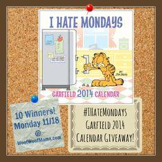 Garfield #IHateMondays 2014 Calendar Giveaway {10 Winners!}