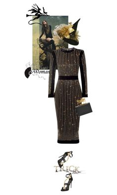 """""""When witches go riding and black cats are seen, the moon laughs and whispers 'tis now Halloween..."""" by matilda66 ❤ liked on Polyvore featuring Balmain, Giuseppe Zanotti and Alexander McQueen"""