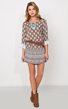 Easy Bohemian Shift #Dress