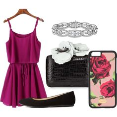 Movie Date by ayely-webb on Polyvore featuring polyvore, fashion, style, Charlotte Russe, Nancy Gonzalez and Dolce&Gabbana