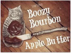 Boozy Bourbon Apple Butter in the slow cooker - perfect for the fall!