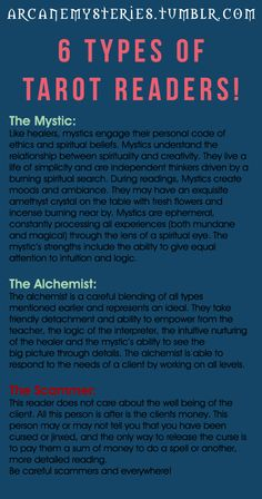 tarot card readings - What type of tarot card reader are you? :) x