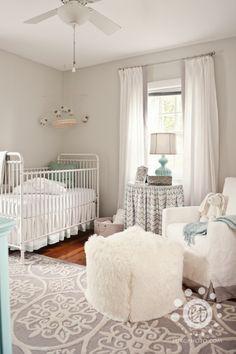 Grey and white neutral nursery.