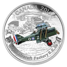Fine Silver Coloured Coin – Aircraft of First World War: Royal Aircraft Factory Old British Coins, Canadian Coins, Canadian History, Valuable Coins, Gold Money, Gold And Silver Coins, Mint Coins, Bullion Coins, Show Me The Money