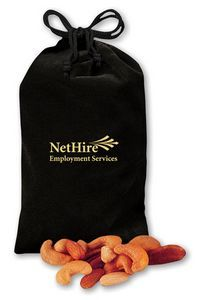 Deluxe Mixed Nuts in Black Velour Pouch