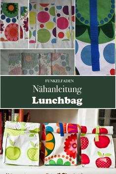 Free sewing instruction - Lunchbag sewing Sewing project for beginners Freebook - DIY Anleitungen / Tutorials - DIY Crafts Diy And Crafts Sewing, Diy Sewing Projects, Sewing Projects For Beginners, Knitting For Beginners, Craft Tutorials, Knitting Projects, Sewing Hacks, Sewing Tutorials, Fabric Crafts