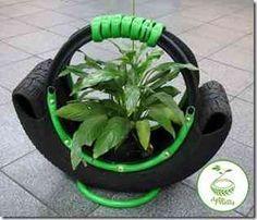 jardim pneu tartaruga - Pesquisa Google