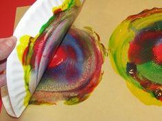 Cuadros impresos con platos de cartón! estilo Kandinsky a full.