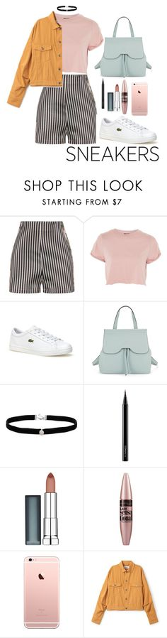 """""""over and over again"""" by edkth ❤ liked on Polyvore featuring La Perla, Topshop, Lacoste, Nanette Lepore, Amanda Rose Collection, MAC Cosmetics and Maybelline"""