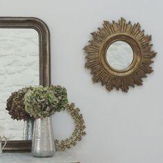 Style Vintage Piqué de rouille Miroir Décoratif Bouteille En Verre