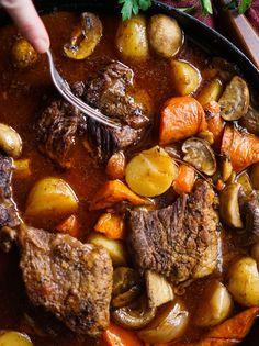 Skillet Beef Short Rib Pot Roast (Whole30)