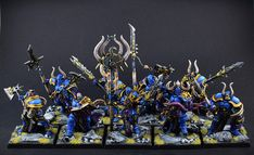 Age of Sigmar   Chaos Warriors   Tzeentch Chosen Conversion from Stormcast Eternals  #warhammer #ageofsigmar #aos #sigmar #wh #whfb #gw #gamesworkshop #wellofeternity #miniatures #wargaming #hobby #fantasy