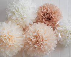 5pcs Tissue Paper Pom Poms Wedding Decoration Party