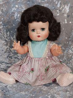 Betsy Wetsy doll from 1950'shard plastic head, vinyl body, eyes that move.