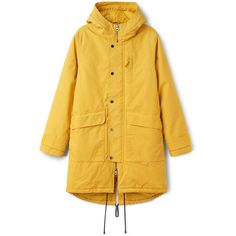 Hepp Parka - Yellow - Jackets & coats - Weekday (5.575 RUB) ❤ liked on Polyvore featuring outerwear, coats, yellow parka, insulated coats, parka coat, insulated parka and yellow coat
