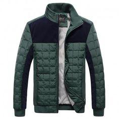 83daa9c2c 2017 Men Parkas Thicken Winter Jacket Men Windbreaker Slim Warm Casual  Cotton-Padded Men Coat