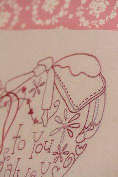 hope, love and friendship stitchery kit