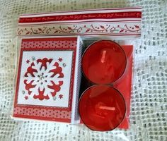 Moski matches and tea lights Christmas Craft Projects, Crafts To Make, Tea Lights, Coasters, Drink Coasters, Tea Light Candles, Coaster