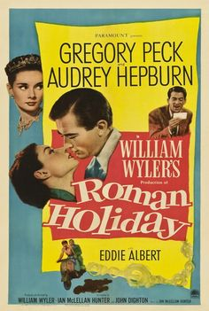 Roman Holiday Starring Audrey Hepburn and Gregory Peck