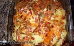 Fokhagymás rakott krumpli recept fotóval Hungarian Recipes, Hungarian Food, Culinary Arts, Meat Recipes, Allrecipes, Lasagna, Crockpot, Slow Cooker, Food To Make