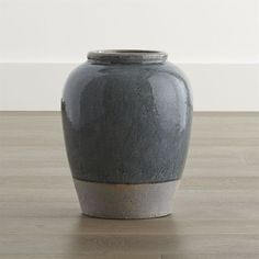 Crate & Barrel Luana Small Urn Vase ($35) ❤ liked on Polyvore featuring home, home decor, vases, crackle vase, crate and barrel, distressed home decor and clay vase