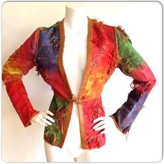 FENDI Vintage patchwork leather trim jacket by Karl Lagerfeld just posted in my Etsy shop!!!