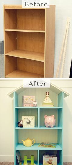 DIY Dollhouse Bookshelf - Decor Ideas for Girls Room - Click for Tutorial