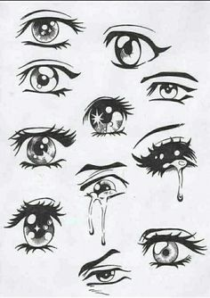 Beautiful drawing of eyes