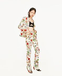 Image 1 of FLORAL TROUSERS from Zara