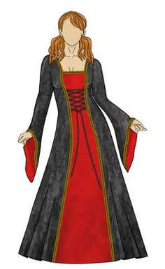 Medieval Fancy Dress/Costume Sewing Pattern 8-22 (CD)