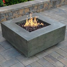 Prism Hardscapes Tavola II Gas Fire Table | WoodlandDirect.com: Outdoor Fireplaces: Fire Pits - Gas #LearnShopEnjoy