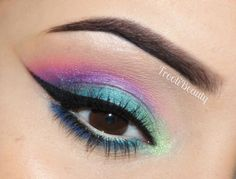 FFF: Urban Decay Electric Palette Makeup Look