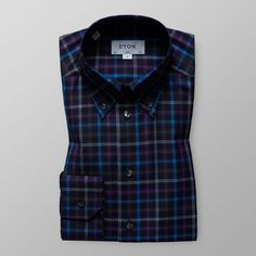 boglioli fitted checkprint linen shirt aw18 mens shirts