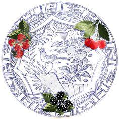 Plates & Chargers Romantic Gien France Jardin Imaginaire Squirrel Dessert Plate New